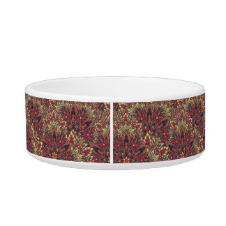 Warm color mandala pattern. bowl