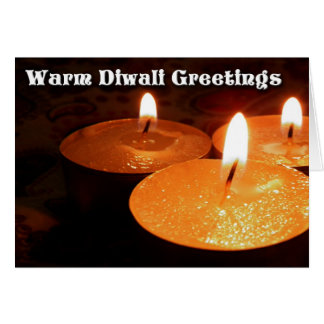 Warm Diwali Greetings Card