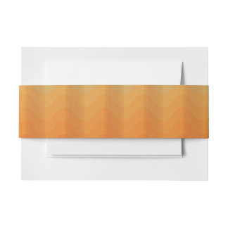Warm Orange and Earth Waves Invitation Bellyband Invitation Belly Band