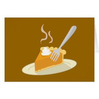 Warm Pumpkin Pie Greeting Card