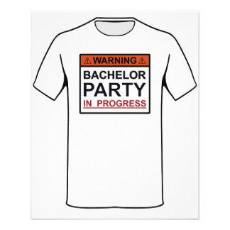 Warning Bachelor Party in Progress Flyer