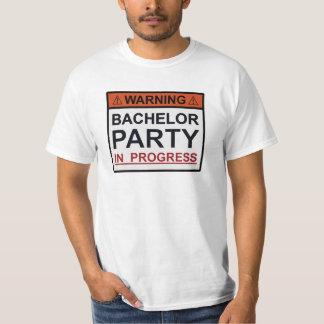 Warning Bachelor Party in Progress T-Shirt
