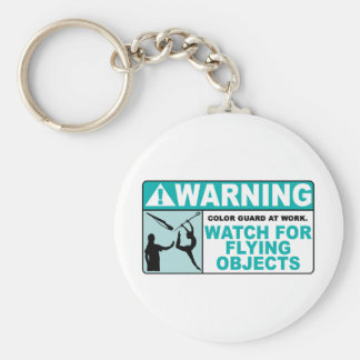 Warning- Beware of Flying Objects! Key Ring