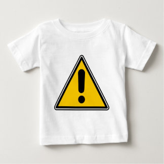 Warning! Caution! Symbol - add your own text! Baby T-Shirt