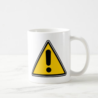 Warning Caution Symbol - add your own text Coffee Mugs