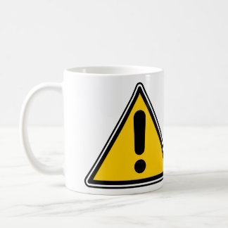 Warning Caution Symbol - add your own text Mugs