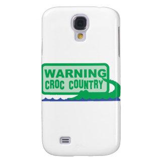 WARNING croc country! crocodile design Galaxy S4 Case