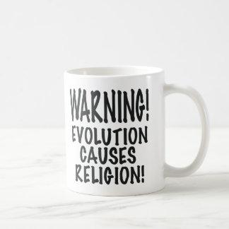 WARNING! EVOLUTION CAUSES RELIGION, gifts Mug