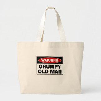 Warning Grumpy Old Man Jumbo Tote Bag
