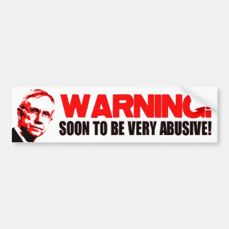 WARNING: HARRY REID CAR BUMPER STICKER