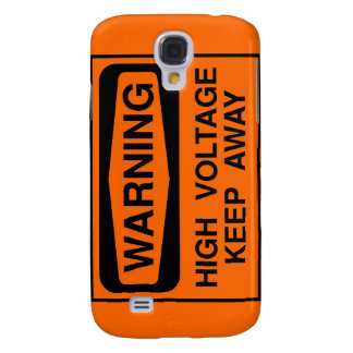 warning high voltage galaxy s4 case