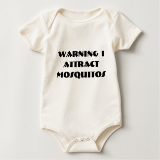 Warning I Attract    Mosquitos Baby Bodysuit