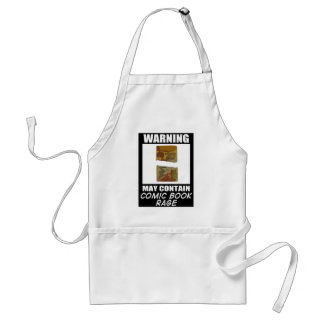 Warning May Contain Comic Book Rage Standard Apron