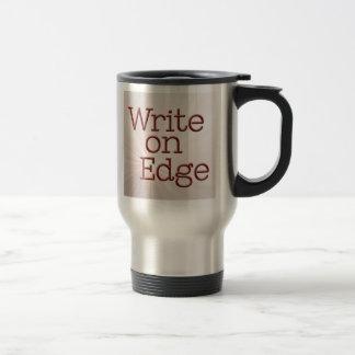 Warning: Novelist at work. 15 Oz Stainless Steel Travel Mug