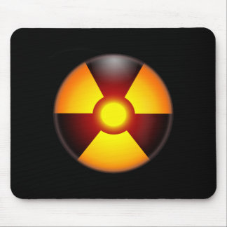Warning Nuclear Radiation Mouse Pad