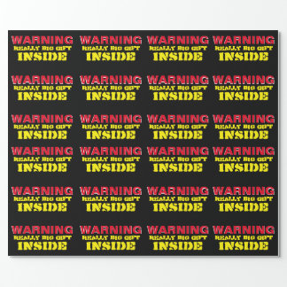 """WARNING Really Big Gift Wrapping Paper 30""""x6'"""