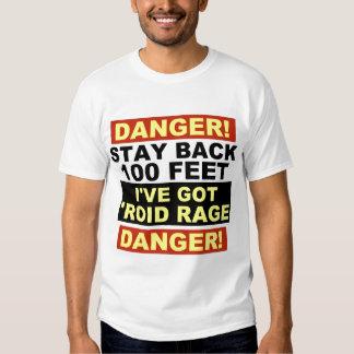 Warning Roid Range Tshirts