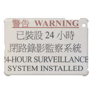 warning sign casing cover for the iPad mini