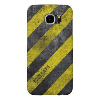 Warning Stripes Customizable Samsung Galaxy S6 Cases