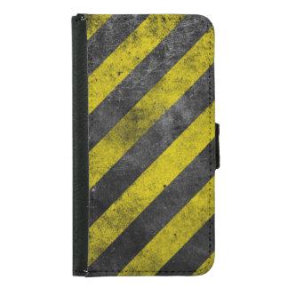 Warning Stripes Samsung Galaxy S5 Wallet Case