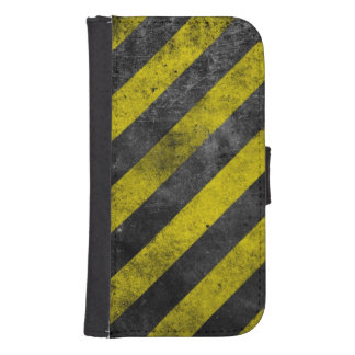 Warning Stripes Samsung S4 Wallet Case