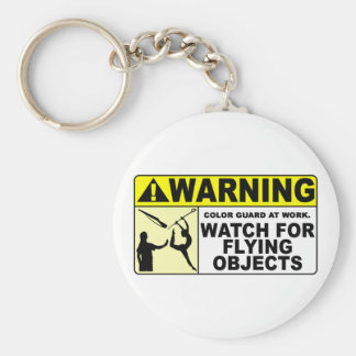 WARNING Watch For Flying Objects! Key Ring