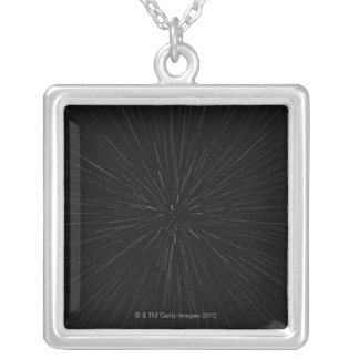 Warp Speed Movement Silver Plated Necklace