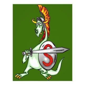 Warrior Dragon Personalized Flyer