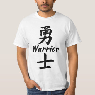 Warrior in Chinese calligraphy Shirt