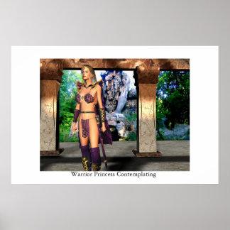 Warrior Princess Contemplating Poster