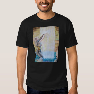 Warrior princess cooling in the waterfall t-shirt
