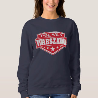 Warsaw Poland - Warszawa Polska Shield Sweatshirt