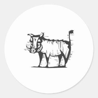 Wart Hog Classic Round Sticker