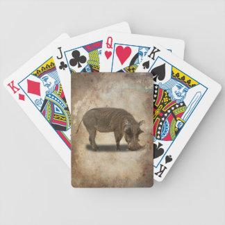WARTHOG BICYCLE PLAYING CARDS