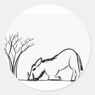 Warthog Classic Round Sticker