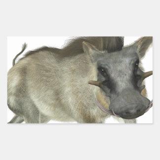 Warthog Running Left Rectangular Sticker