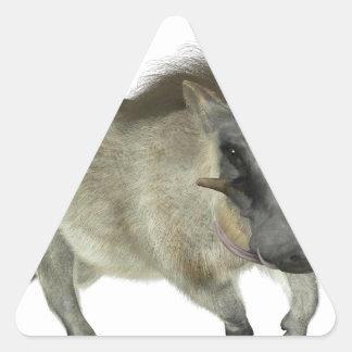 Warthog Running Left Triangle Sticker