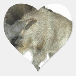 Warthog Running to Right Heart Sticker