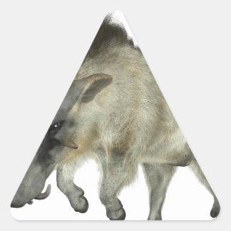 Warthog Running to Right Triangle Sticker