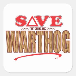 Warthog Save Square Sticker