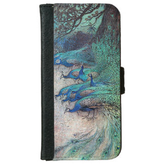 Warwick Goble Peacocks in Forest iPhone 6 Wallet Case