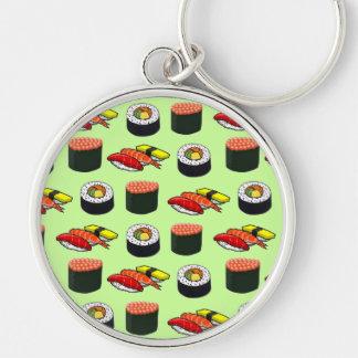 Wasabi Green Sushi Keychains