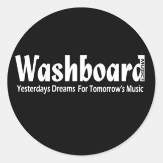 Washboard Max Maxwell Johnson Reed Glasgow Germany Classic Round Sticker
