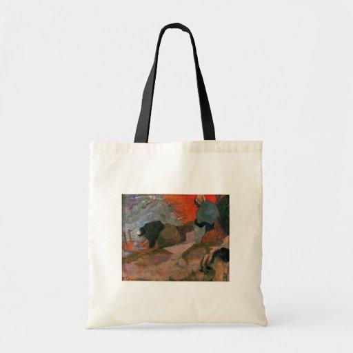 Washerwomen by Paul Gauguin Bag