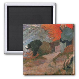 Washerwomen by Paul Gauguin Square Magnet