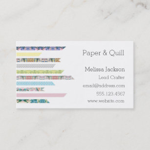 Diy craft business cards zazzle nz washi tape pastels diy crafts networking business card reheart Choice Image