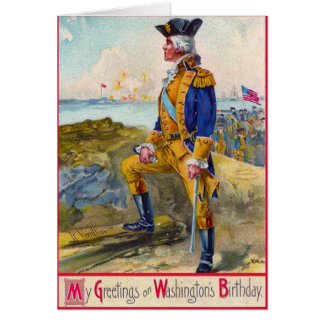 Washington at Yorktown Card
