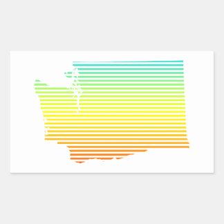 washington chill fade rectangular sticker