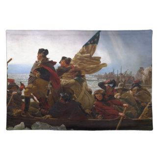 Washington Crossing the Delaware - Vintage US Art Placemat