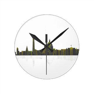 Washington, DC Skyline Round Clock